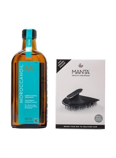 Moroccanoil Moroccanoil Bakım Yağı 200 Ml + Manta Esnek Black/Gold Saç Fırçası COSMOPERA/2021/1730 Renksiz